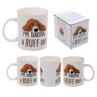 Ruff Day Bone china mug