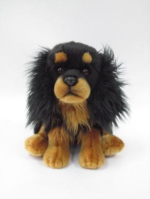 Large Black & Tan Cavalier Soft Toy